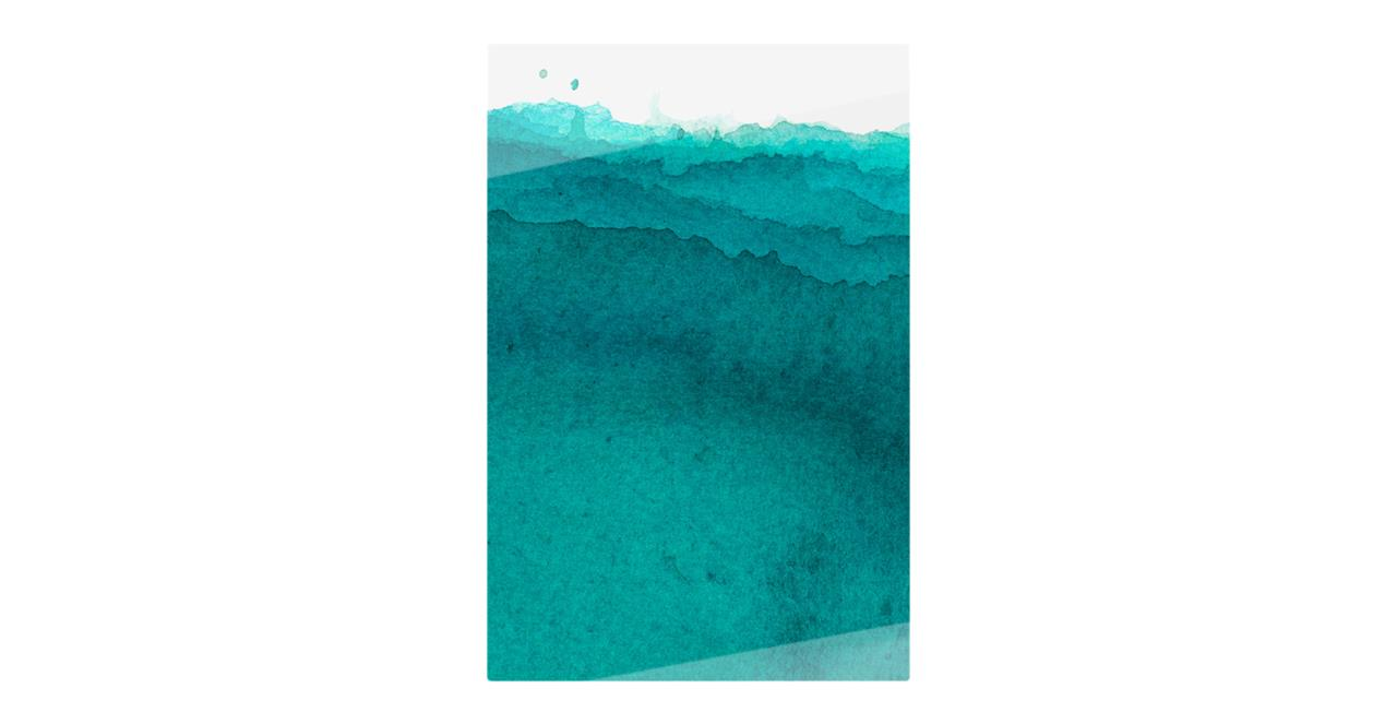The Cyan Print Metal Print Small Aqua