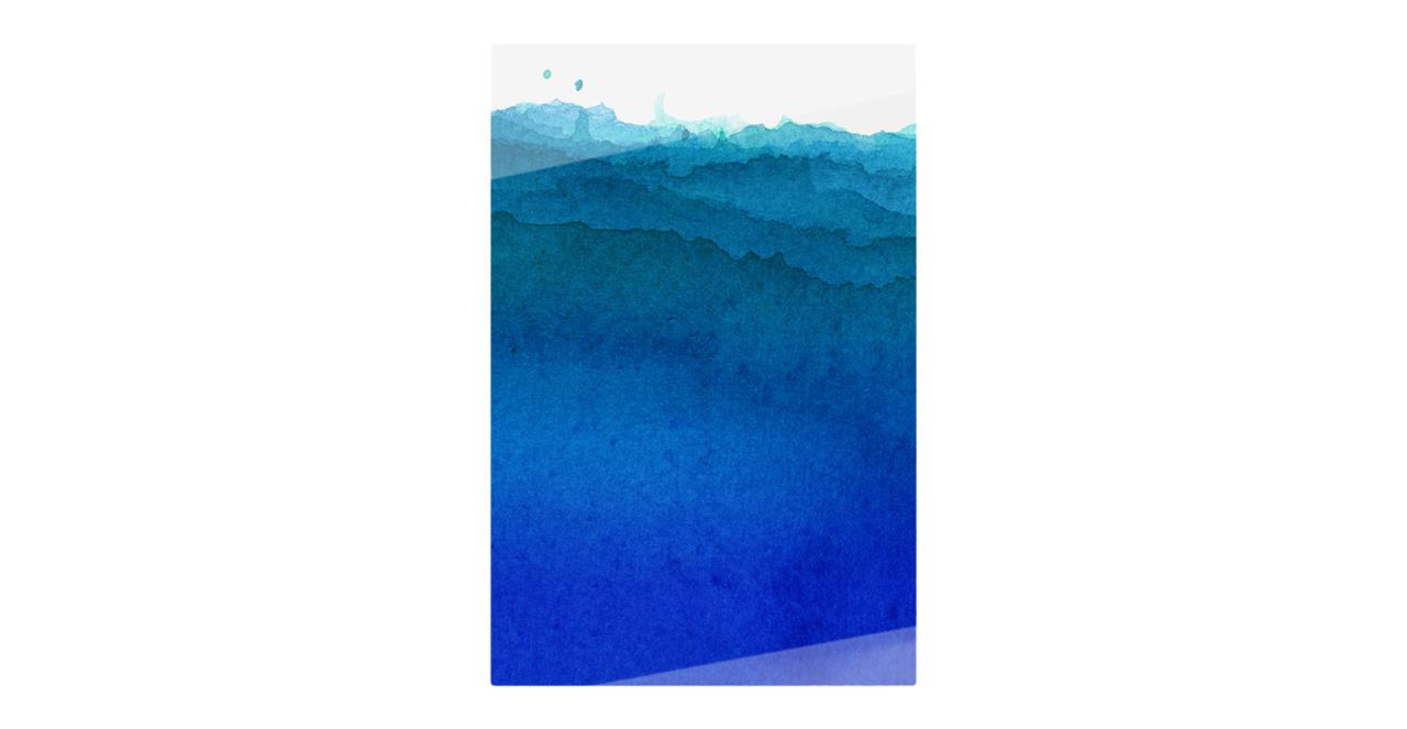 The Cyan Print Metal Print Medium Cobalt