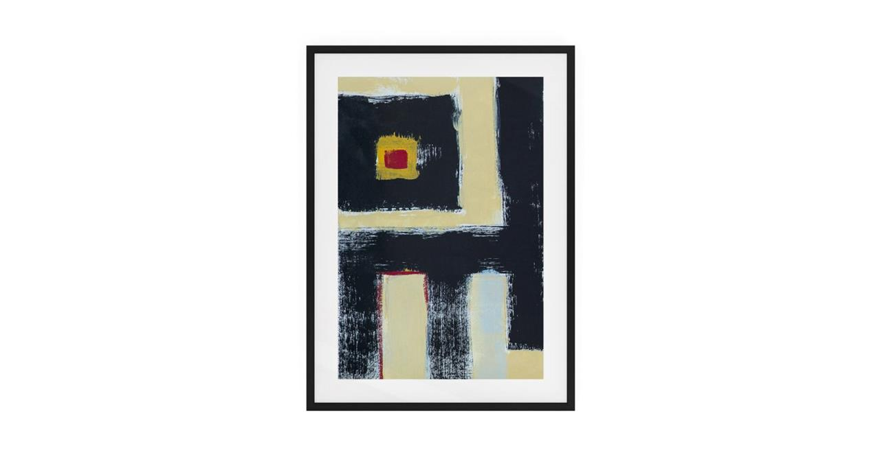 The Farbe Print Black Wood Frame Medium Black
