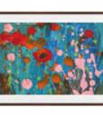 The Papaver Print Dark Brown Wood Frame Medium
