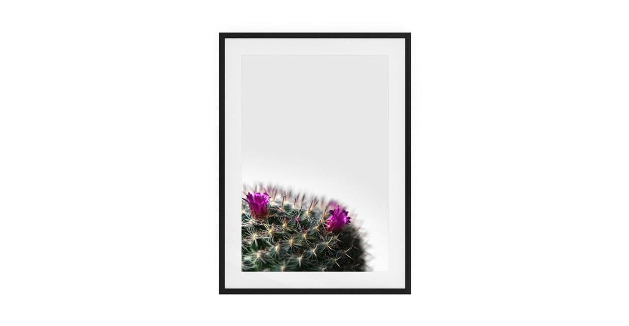 The Prickle Print Black Wood Frame Small Left