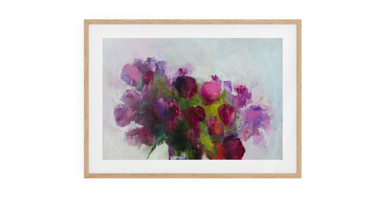 The Roses Print Natural Wood Frame Small