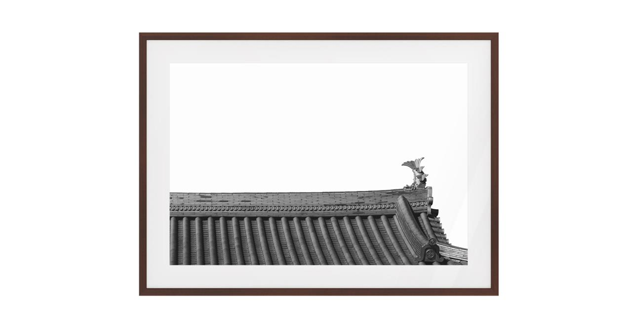 The Temple Print Dark Brown Wood Frame Small