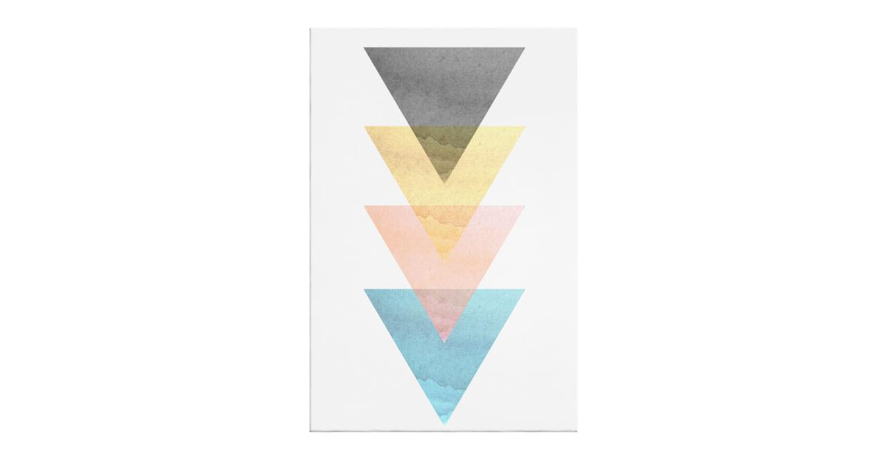 The Triangle Print Canvas Large