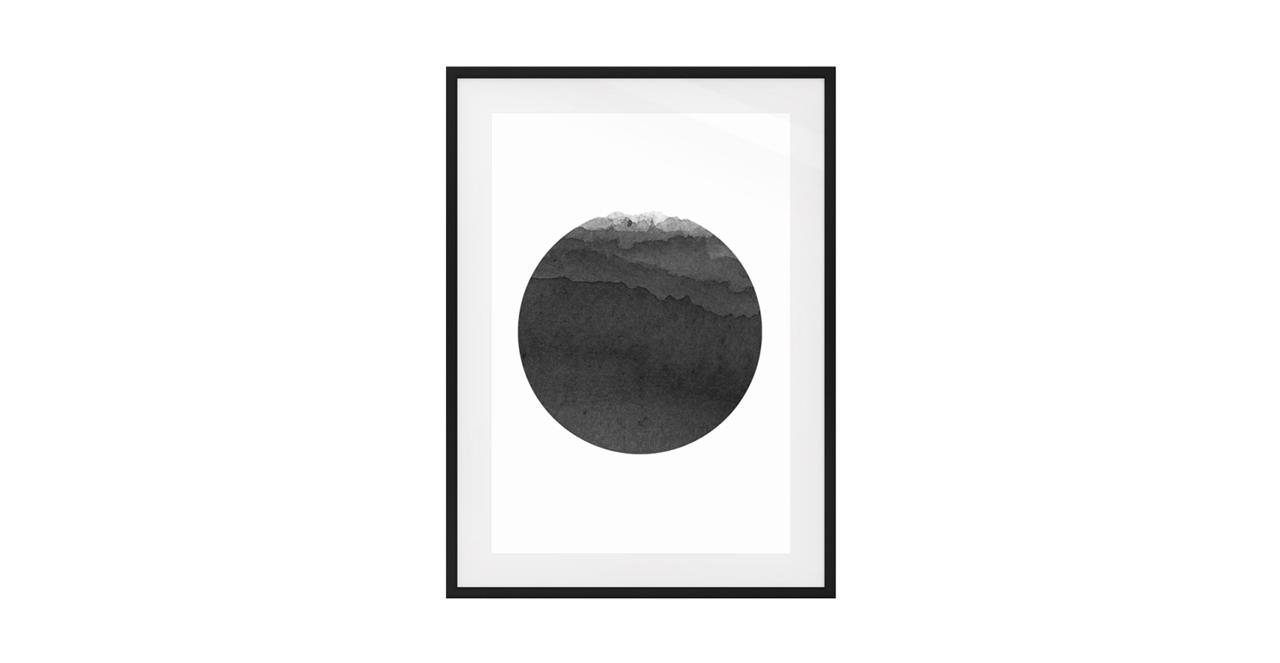 The Ink Print Black Wood Frame Small