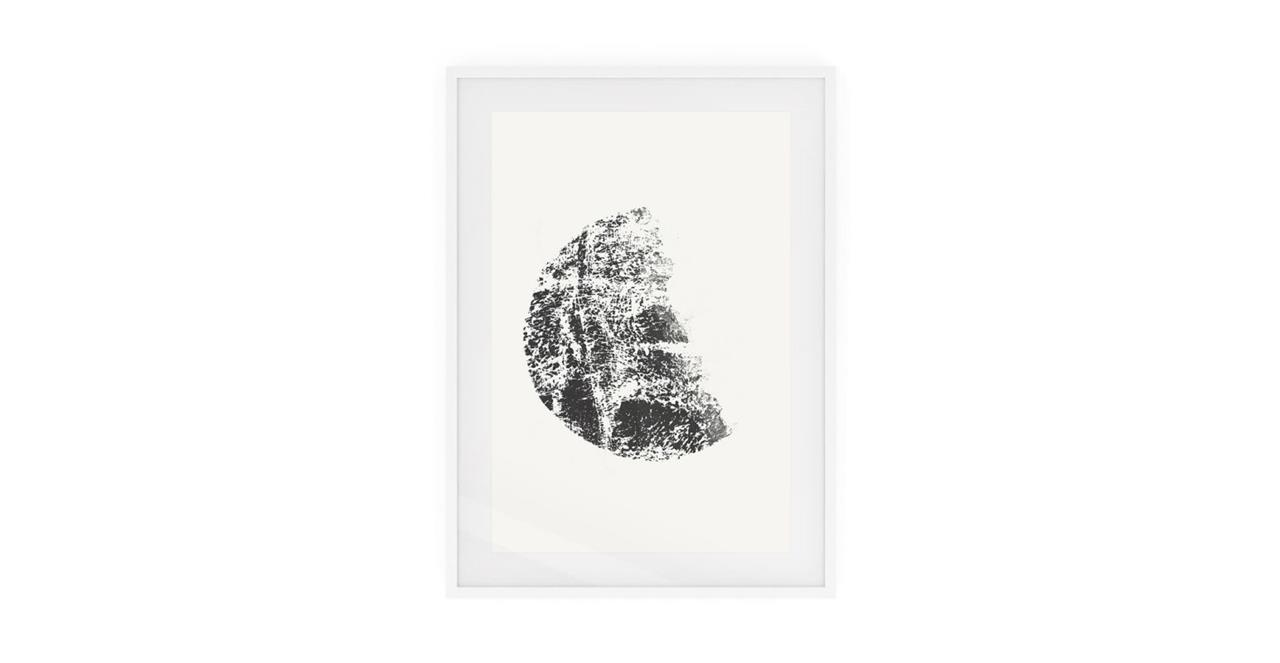 The Lunar Print White Wood Frame Small Gibbous