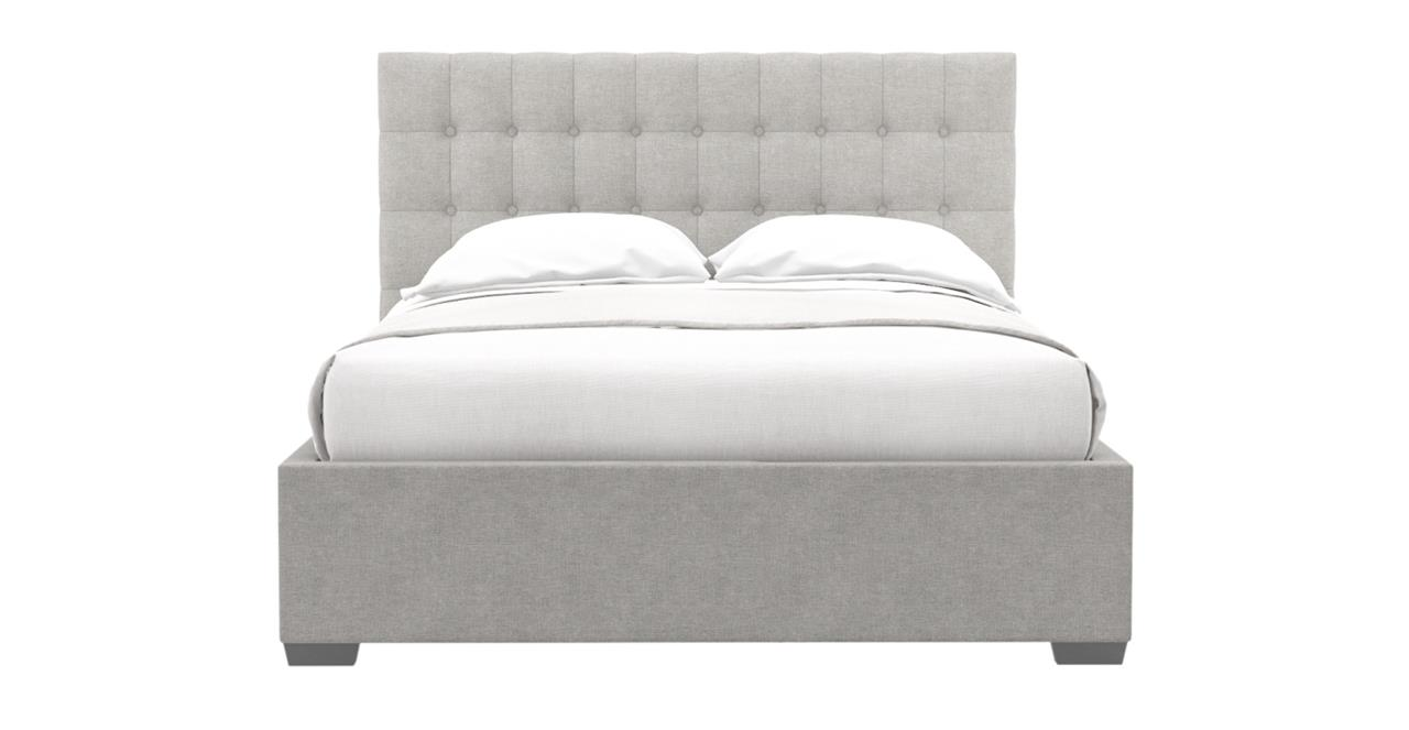 Leia Gas Lift Queen Size Bed Frame Stone Grey Stone Grey