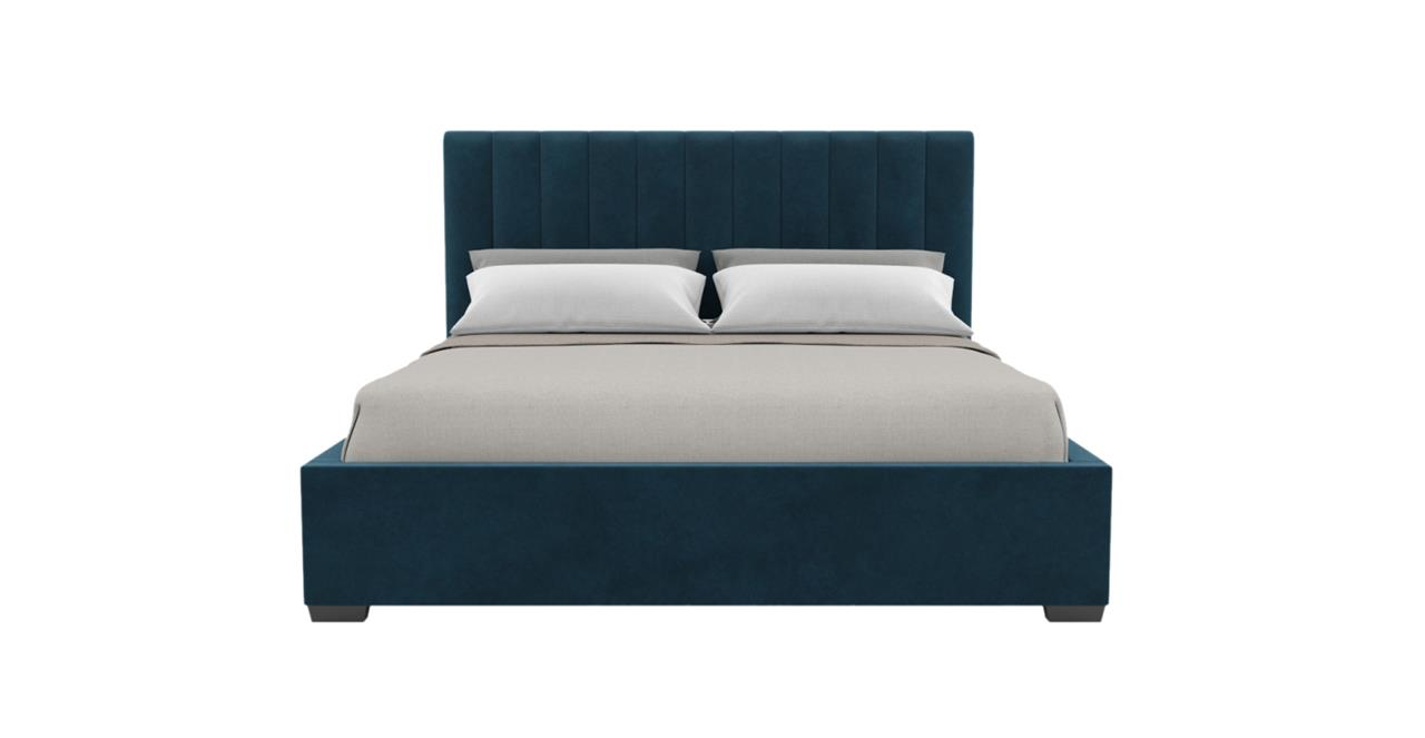 Megan Gas Lift King Size Bed Frame Peacock Teal Peacock Teal