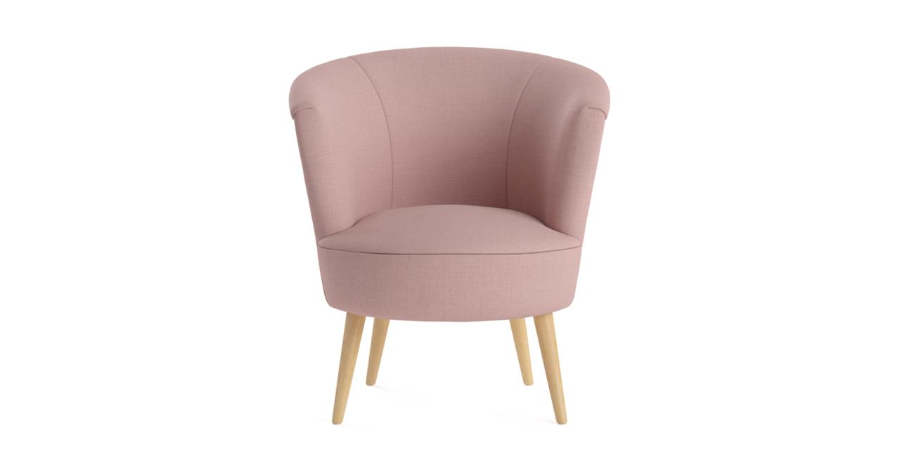 Nora Chair Natural Solid Beech Rose Tan