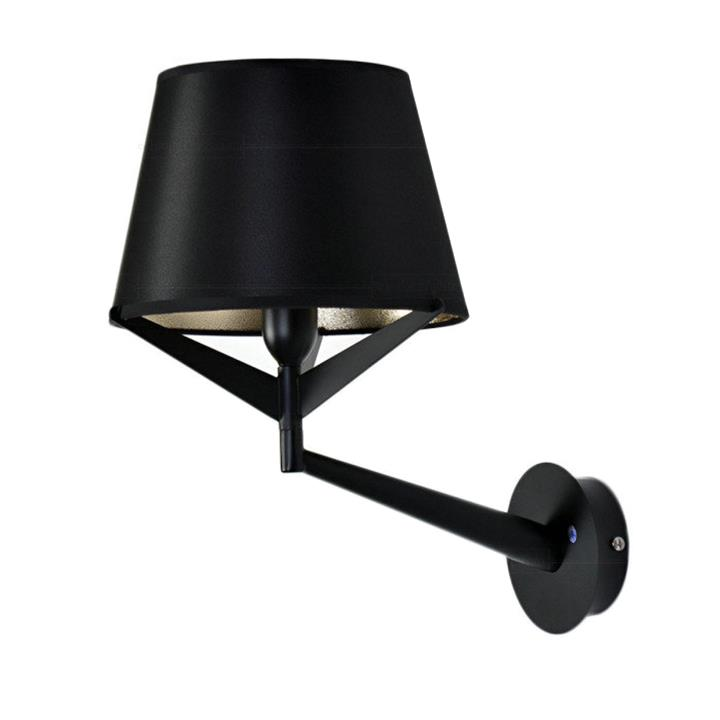 S71 Wall Lamp Metal Black Fabric | Replica