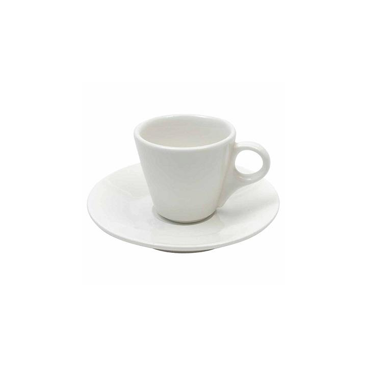 White Basics Conical Demi Cup & Saucer