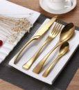 Gold Stainless Steel Cutlery | 4 Piece Set