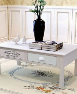 vidaXL Shabby Chic French Coffee Table Wood