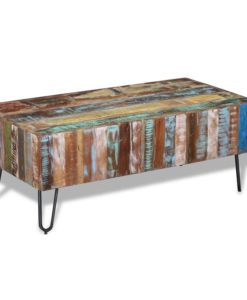 vidaXL Coffee Table Solid Reclaimed Wood 100x50x38 cm