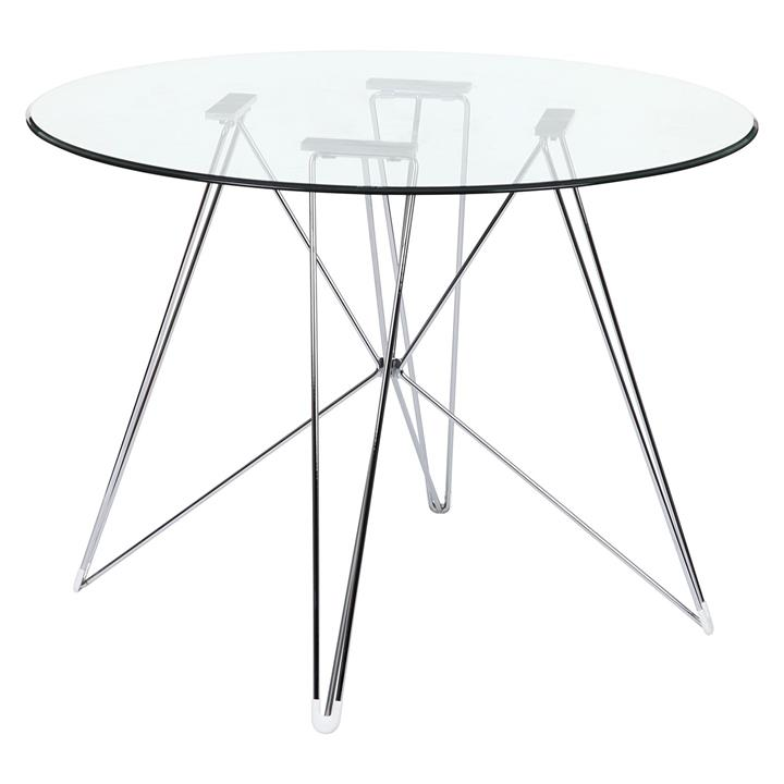 Replica Eames Eiffel DSR Round Glass Dining Table