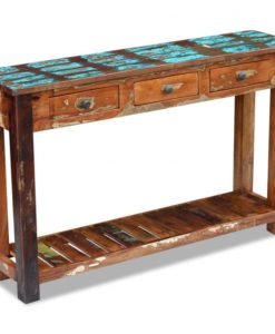 vidaXL Console Table Solid Reclaimed Wood 120x30x76 cm