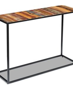 vidaXL Console Table Solid Reclaimed Wood 110x35x76 cm