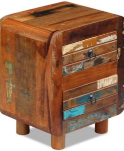 vidaXL Night Cabinet Solid Reclaimed Wood 43x33x51 cm