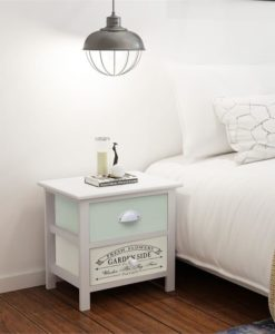 vidaXL Shabby Chic French Bedside Cabinet Wood