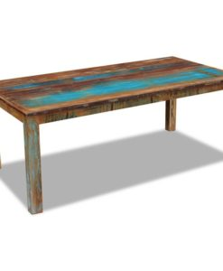 vidaXL Dining Table Solid Reclaimed Wood 200x100x76 cm