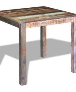 vidaXL Dining Table Solid Reclaimed Wood 80x82x76 cm