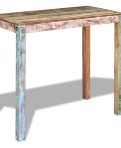 vidaXL Bar Table Solid Reclaimed Wood 115x60x107 cm