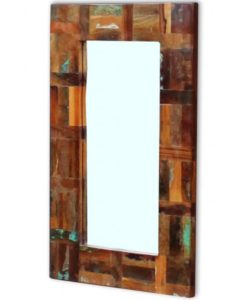 vidaXL Mirror Solid Reclaimed Wood 80x50 cm