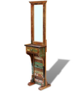 vidaXL Hall Mirror Solid Reclaimed Wood 47x23x180 cm