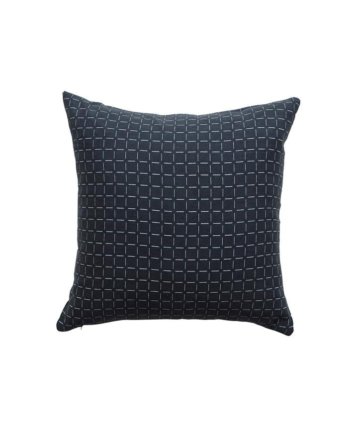 Charcoal Broken Check Cushion 50cm