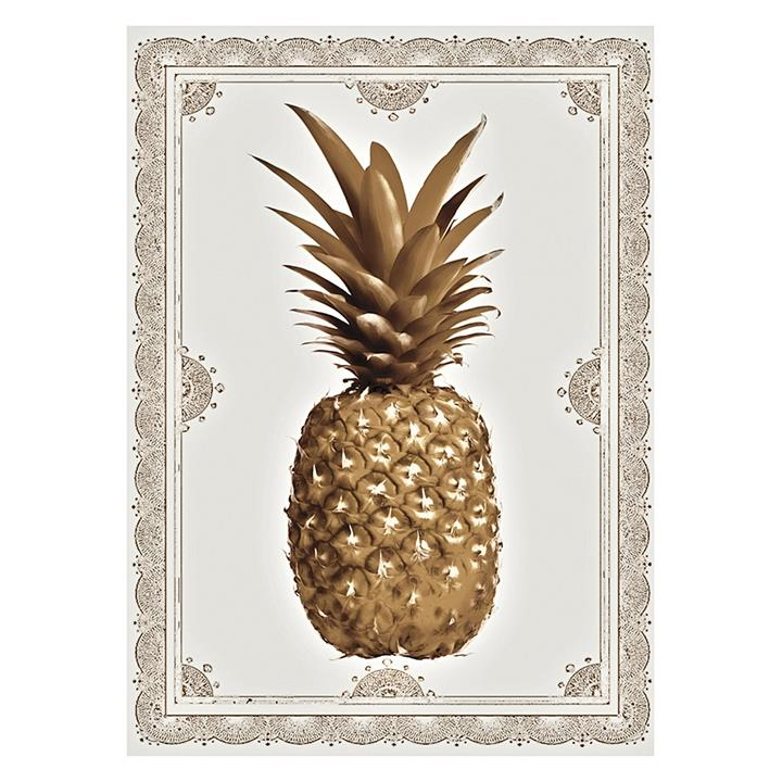 Pineapple Border Rolled Canvas Print
