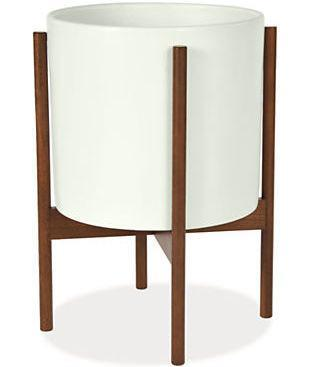 MODERNICA White Case Study® Ceramic Cylinder With Wood Stand
