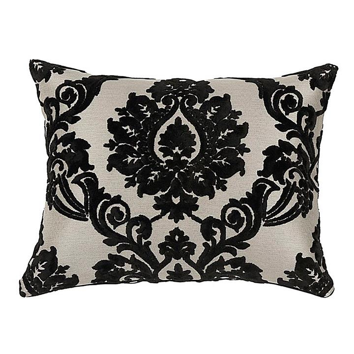 Amari Black Rectangular Cushion