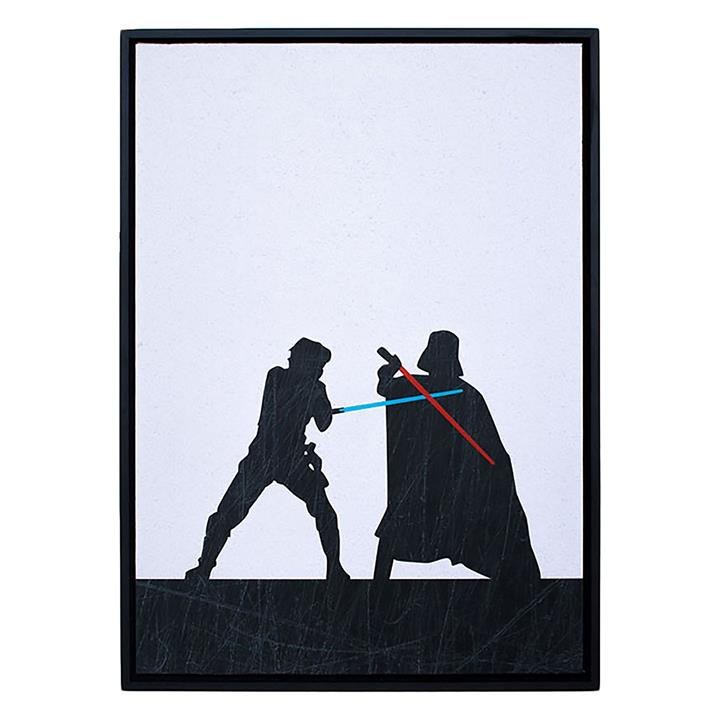 Star Wars Duel Framed Print Art