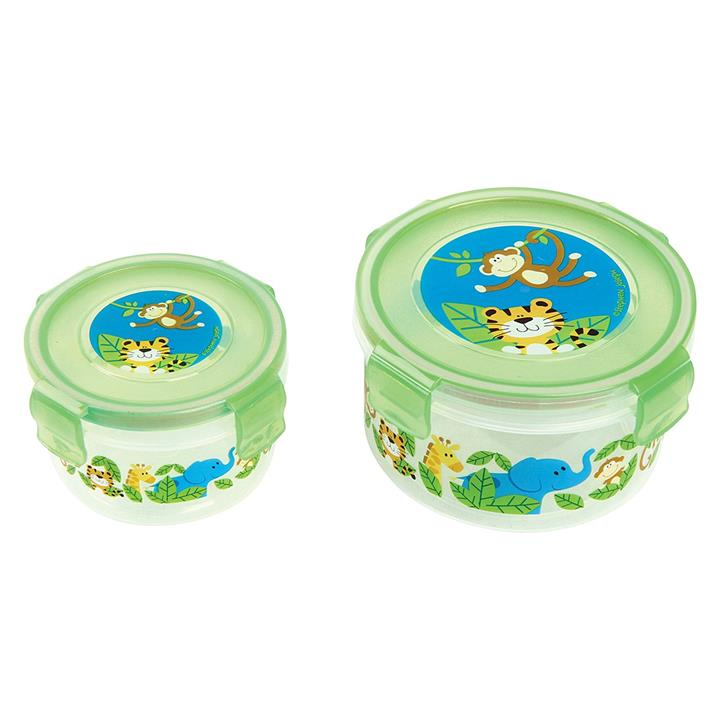 Zoo Blue Nested Snack Container (Set of 2)