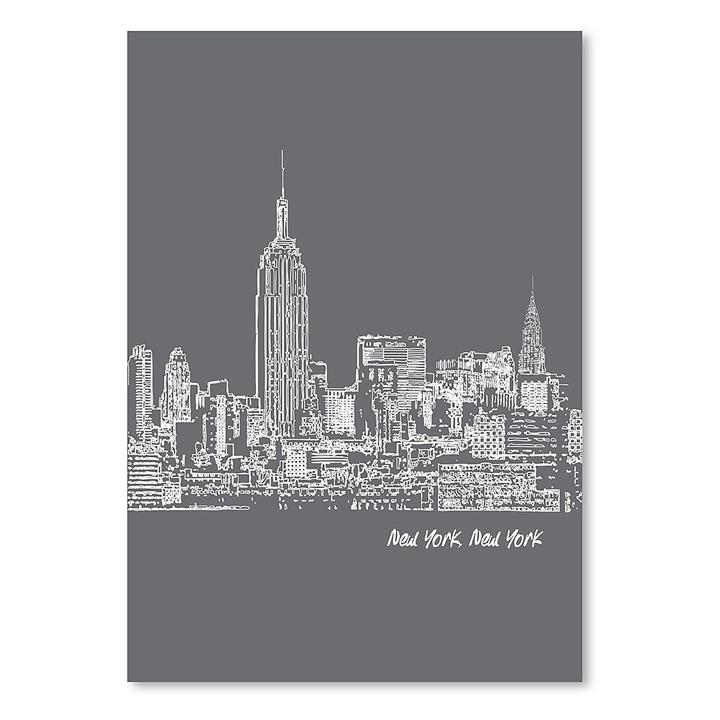 Skyline New York City Print Art