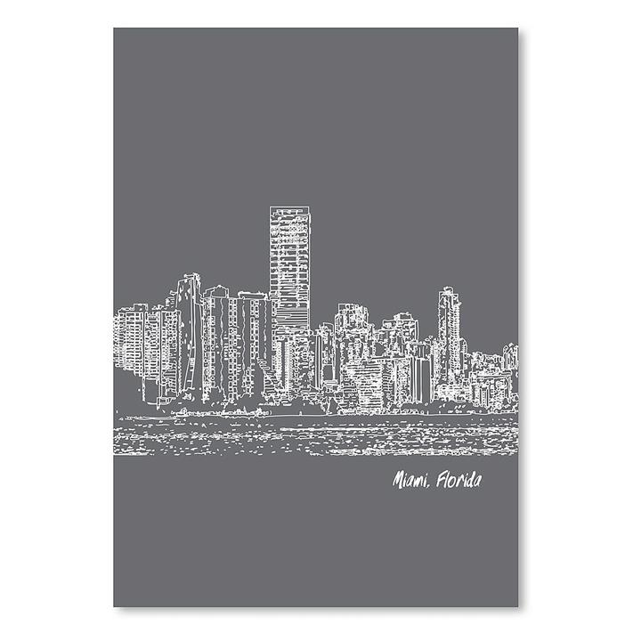 Skyline Miami Print Art