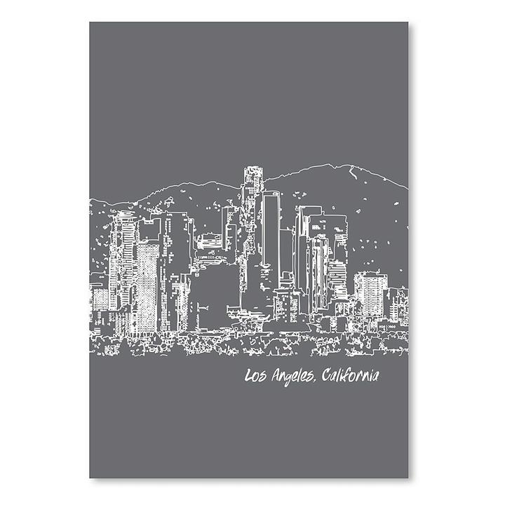 Skyline Los Angeles Print Art