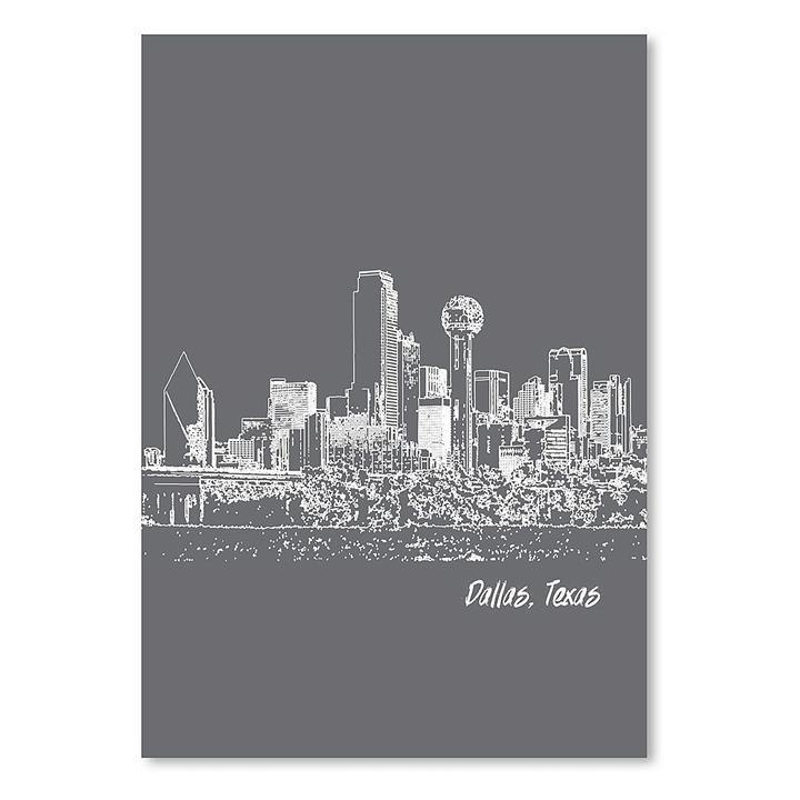 Skyline Dallas Print Art