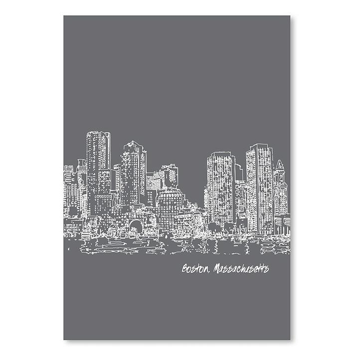 Skyline Boston Print Art