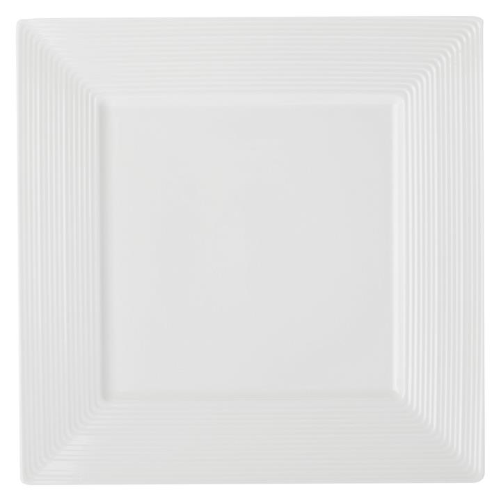 Casual White Evolve Square Dinner Plate