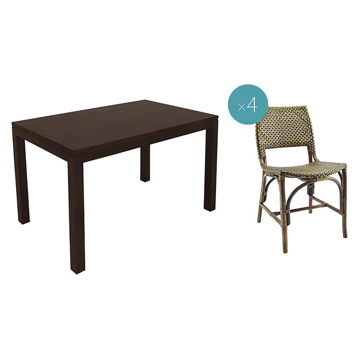 Darina Dining Set with Dining Chairs