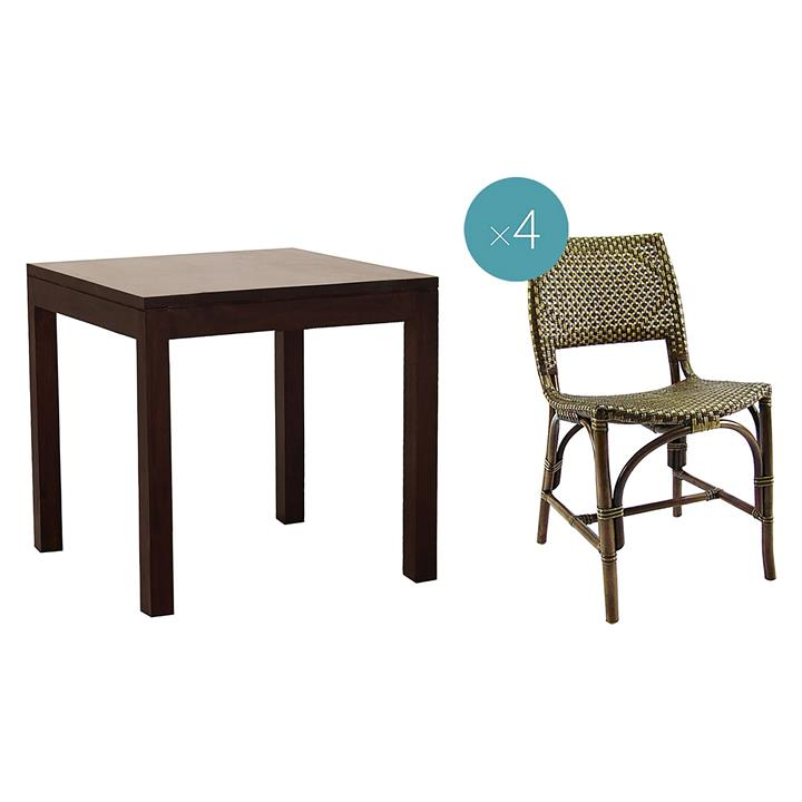 Darina 5-Piece Square Dining Set with Dining Chairs