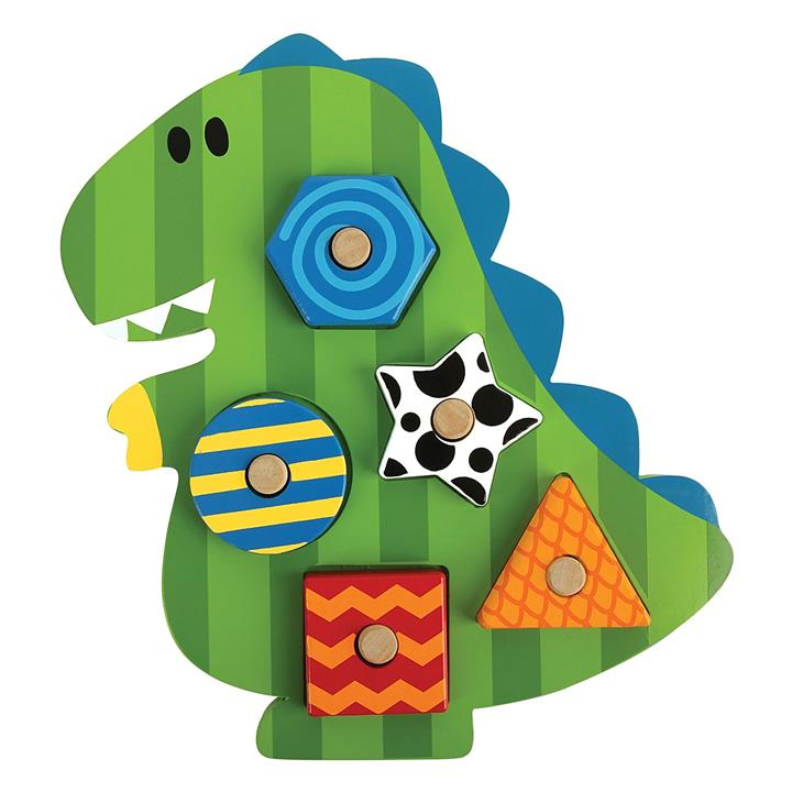 Dino Wooden Peg Puzzle