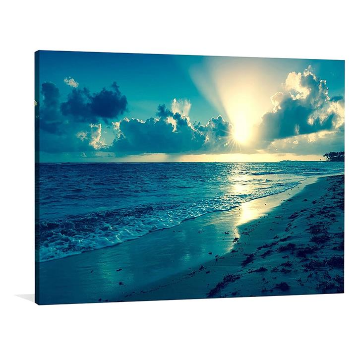 Blue Sunsets Canvas Print