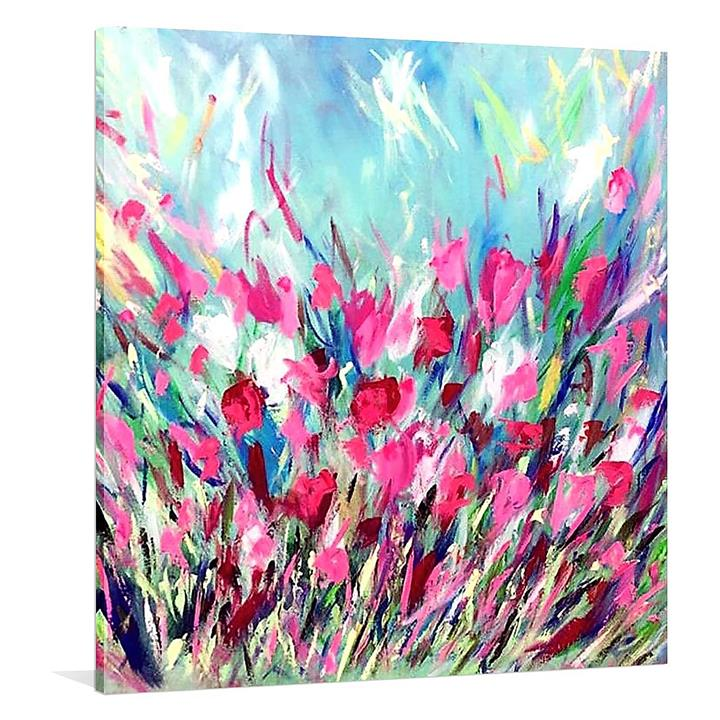 Jardin Expose Painted Canvas Wall Art