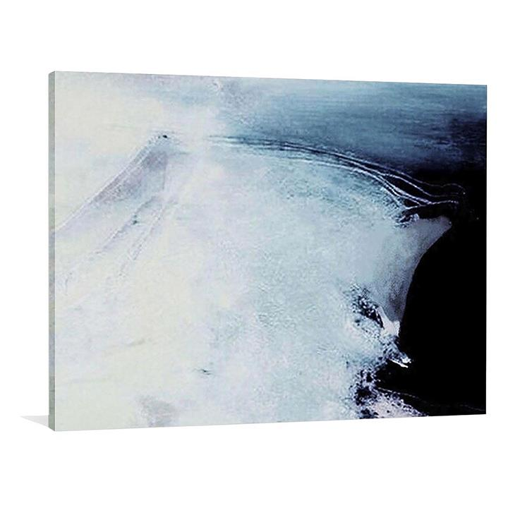 Blue Evening Painted Canvas Wall Art