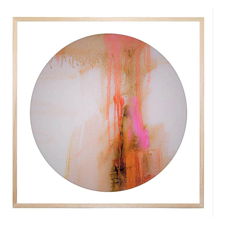 Extractional Piece Round Framed Print