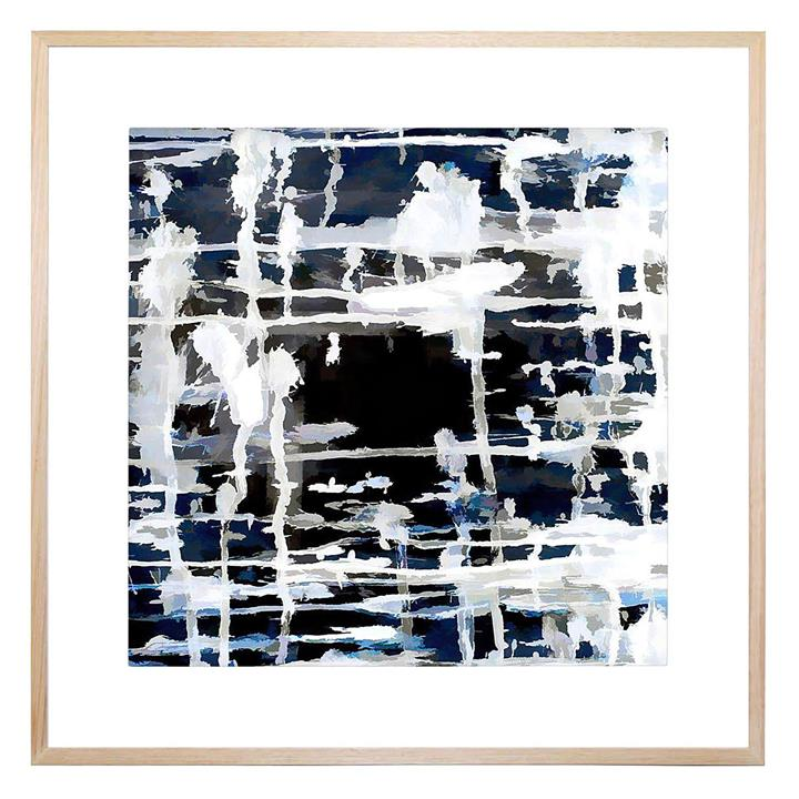 Deep and Blue Square Framed Print