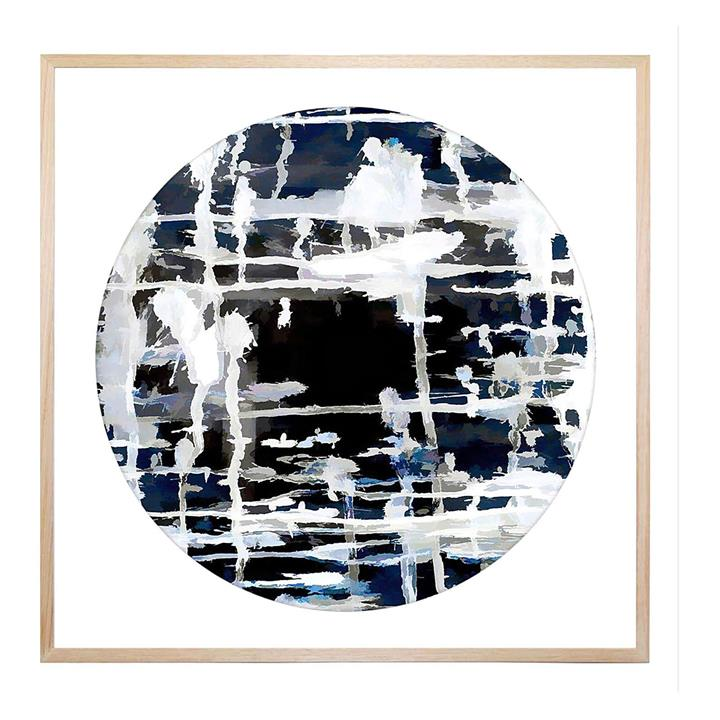 Deep and Blue Round Framed Print