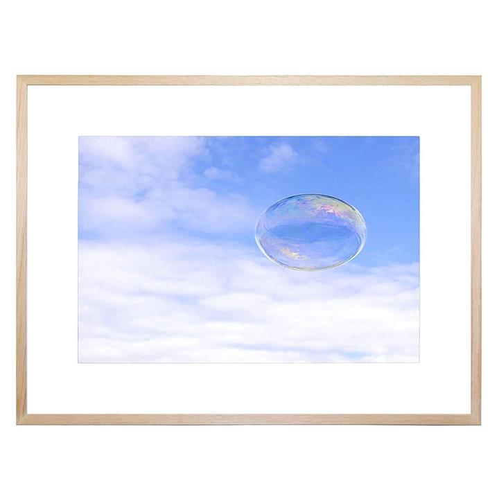 Cloud Bubble Framed Print
